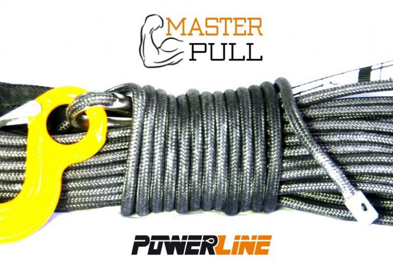 Синтетично въже PowerLine Master Pull 12 mm / 28 M с кука